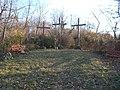 Calvary crosses at the cemetery, 2019 Isaszeg.jpg