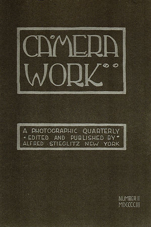 Camera Work - Cover of Camera Work, No 2, 1903. Cover design by Edward Steichen.
