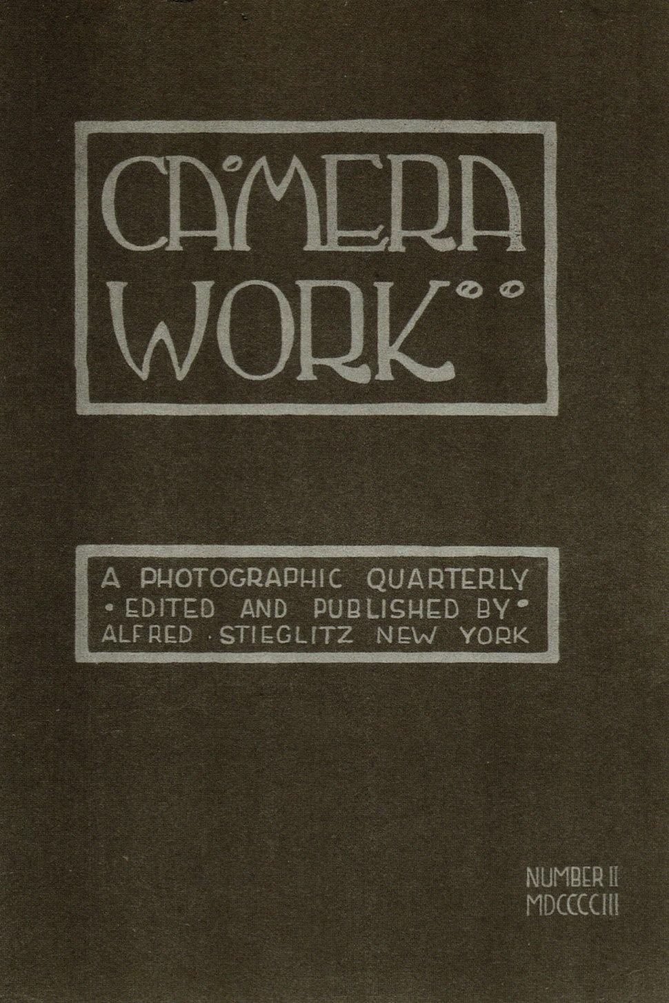 Camera Work cover