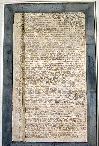 Gaius Caesar - Latin inscription from the cenotaph to Gaius and Lucius Caesar in Pisa