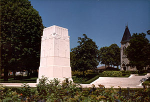 Battle of Cantigny - American Battle Monument Commission's monument of the Battle of Cantigny standing in Cantigny, France.