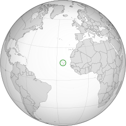 Location of Cape Verde (circled).