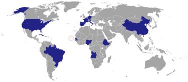 Map of countries with Cape Verdean embassies Cape Verdean embassies.PNG