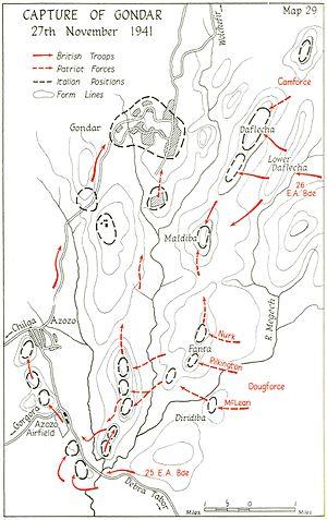 Battle of Gondar - Image: Capture of Gondar, November 1941