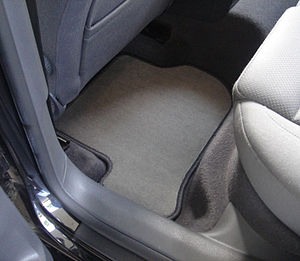 Vehicle mat - Fitted carpet car mat.
