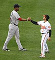Carl Crawford and Brian Roberts 2011.jpg
