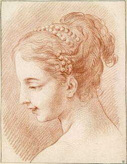 Carle Vanloo Kopf einer jungen Frau