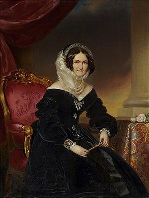 Caroline Augusta of Bavaria - Portrait by Franz Schrotzberg, 1864