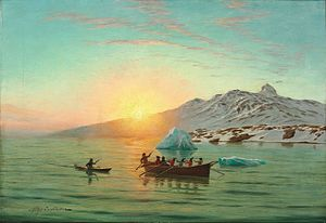 Andreas Riis Carstensen - Summer Day in Greenland with an Umiak.