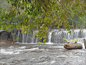 Phnom Kulen - Waterfall at Phnom Kulen.