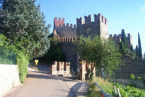 Soave, Veneto - View of the Castle of Soave.