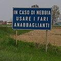 Castiglione d'Adda - strada provinciale 27 - cartello.jpg