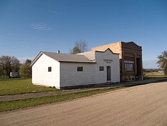 Cathay, North Dakota - The post office and gun club in Cathay
