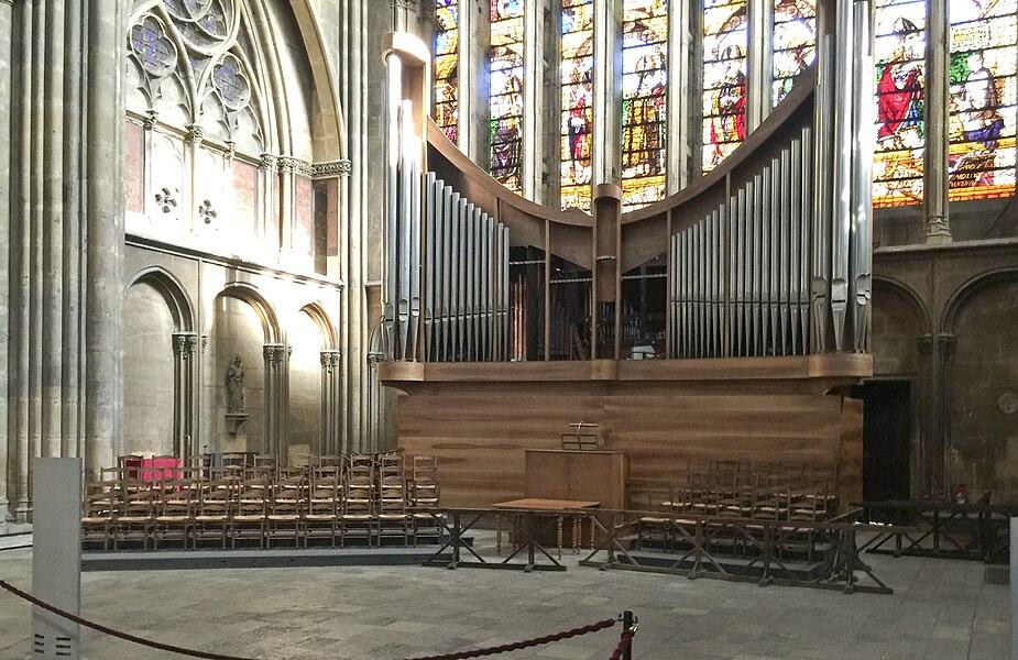 Photographie de l'orgue de la cathédrale Saint-Etienne