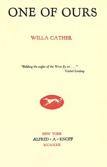 Cather--One of ours.djvu