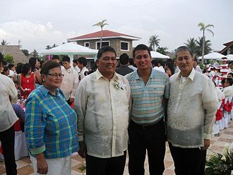 Pangasinan - Siblings Margaret F. Celeste, Cong. Jesus 'Boying' F. Celeste (Representative, Pangasinan, 1st District, House of Representatives, Quezon City), former Cong. Arthur F. Celeste, Pangasinan, 1st, Lakas-Kampi-CMD, 14th Congress of the Philippines), and Mayor Alfronso F. Celeste.