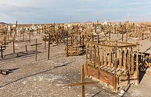 Cimitero della antiqua estrazione di sale die Rica Aventura, Chile.