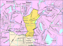 Census Bureau map of Pompton Lakes, New Jersey