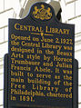 Central Library historical marker.JPG
