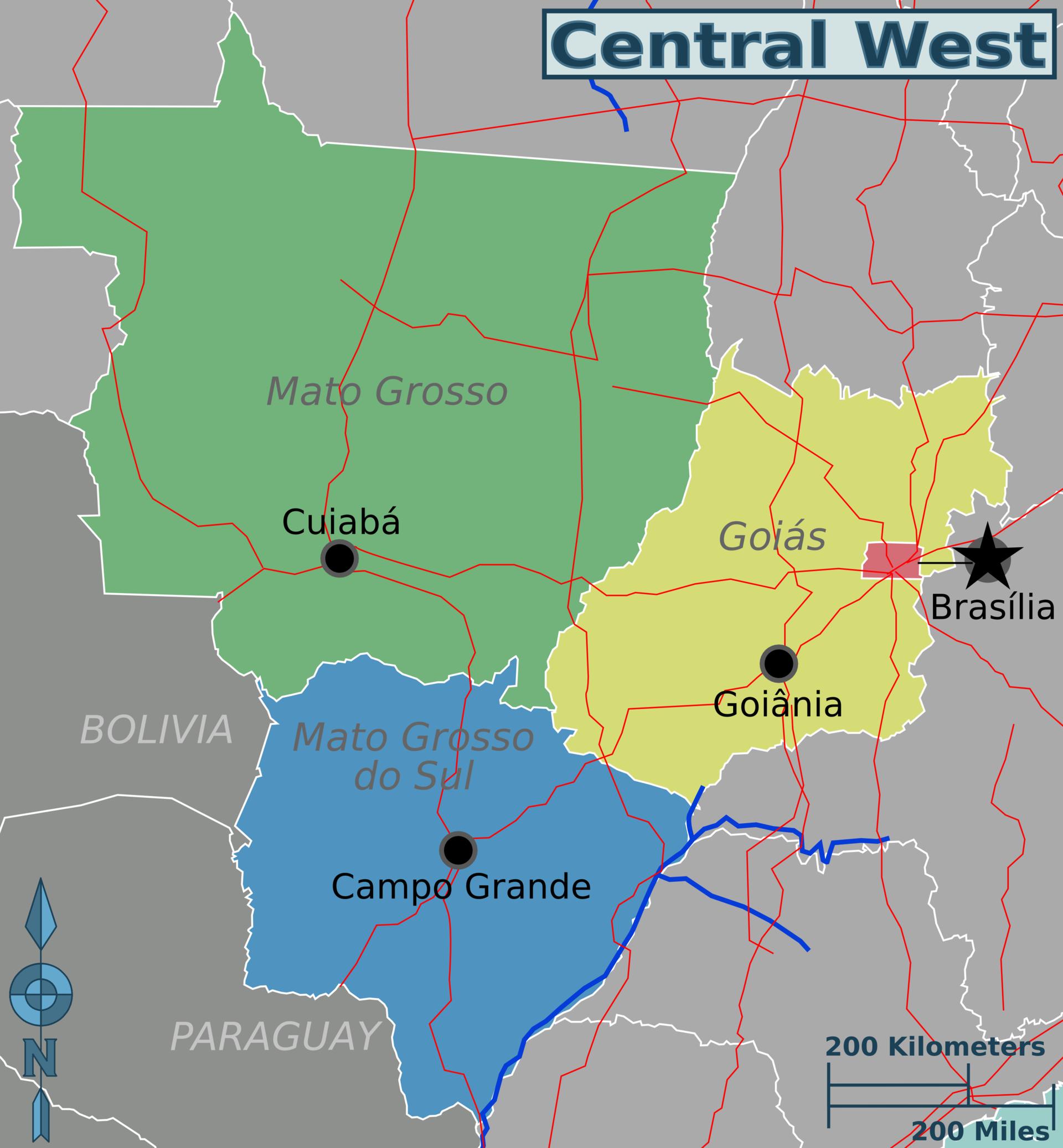 Centre ouest du br sil wikivoyage le guide de voyage et - Port autonome du centre et de l ouest ...
