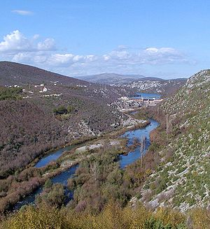 Cetina - One of several dams