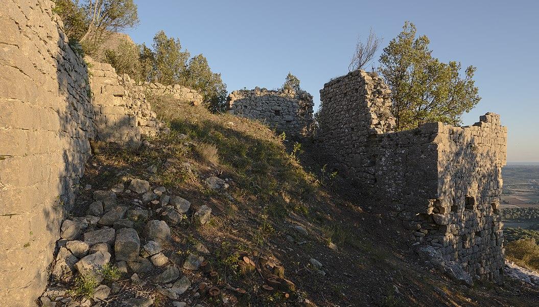 Ruins of the Castle of Montferrand  (XIIth century).Saint-Mathieu-de-Tréviers, Hérault, France.