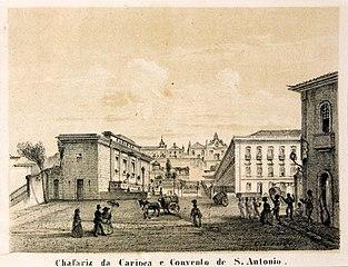 Chafariz da Carioca e Convento de S. Antônio