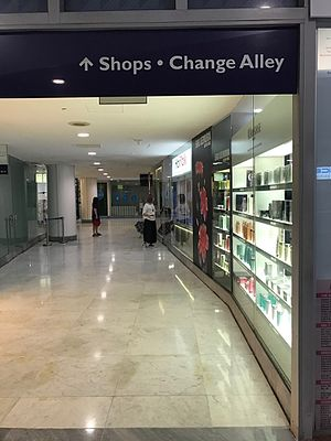 Change Alley, Singapore - Entrance to Change Alley in second floor of Hitachi Tower