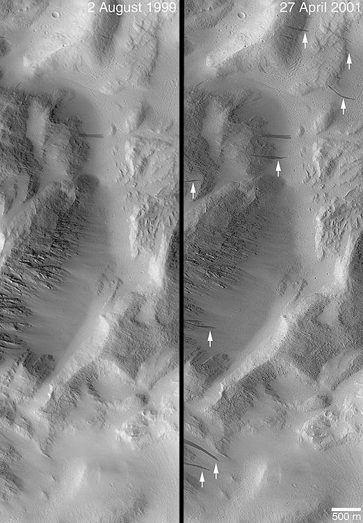 Changes in Slope Streaks