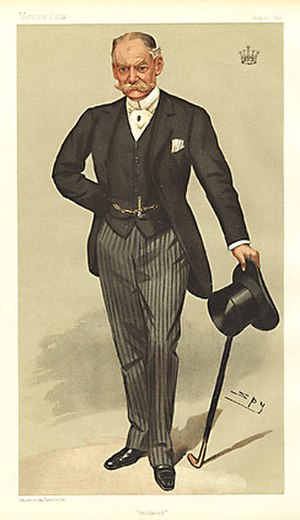 "Charles Gordon-Lennox, 7th Duke of Richmond - ""Goodwood"". Caricature by Spy published in Vanity Fair in 1896"