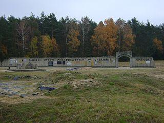 German extermination camp in Chelmno nad Nerem in Poland during World War II