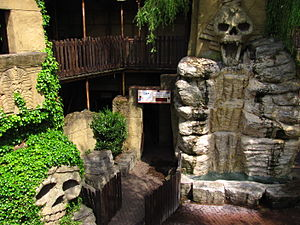 Tomb Blaster - Scenic features in the queue line for Tomb Blaster, originally from Terror Tomb.