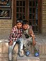 Children in Ribat-i-Abbasi of Nishapur (Hossein - Ali - Fatemeh - Hengameh and another girl - probably Afghani) 25.jpg