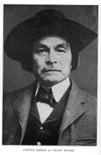 Chitto Harjo Muscogee Creek traditionalist and leader, member of the Four Mothers Society in Indian Territory