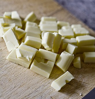 White chocolate - Pieces of white chocolate