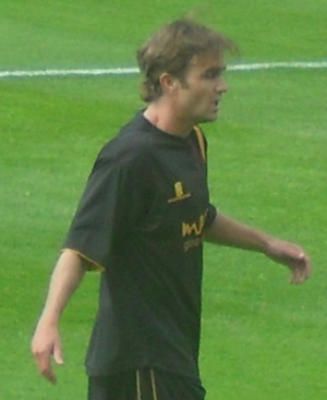 Chris Brandon - Brandon in Bradford City colours in 2009
