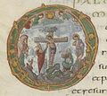 Christ en croix, sacramentaire de Drogon.jpg