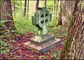 Circumference tombcross on the Kazdanga forester's grave (about 1900) - Kazdangas riņķa krusts - panoramio.jpg