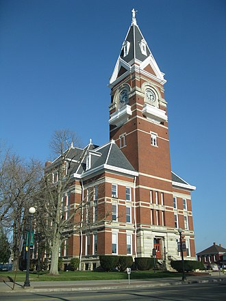 Clarion, Pennsylvania - The Clarion County Courthouse downtown