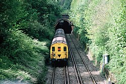 Class 416 at Coombe Road Tunnel (1980s).JPG