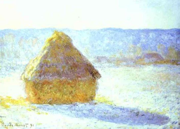 Claude Monet. Haystack, Snow Effects, Morning. 1890. Oil on canvas. Museum of Fine Arts, Boston, MA, USA..JPG