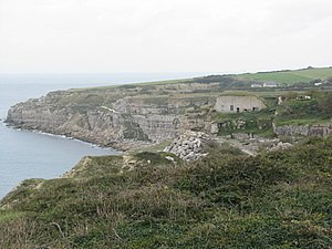 Freshwater Bay, Portland - Freshwater Bay, and the pumping station.