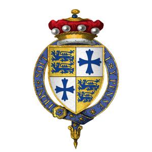 John Sutton, 1st Baron Dudley - Arms of Sir John Sutton, 1st Baron Dudley, KG