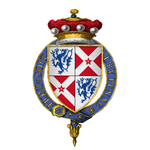 Coat of Arms of Sir William Nevill, 6th Baron Fauconberg, KG.png