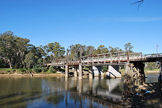 Old Cobram-Barooga Bridge Heritage listed bridge in NSW, Australia