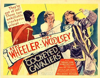 Cockeyed Cavaliers - Lobby card for the film
