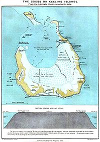 Cocos Keeling Islands Wikipedia - Cocos islands map