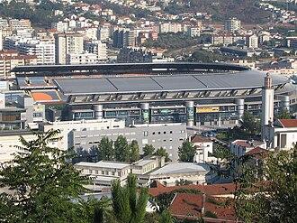 Associação Académica de Coimbra – O.A.F. - A side view of the Estádio Cidade de Coimbra.