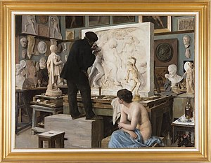 Édouard Joseph Dantan - Coin d'atelier (1880)