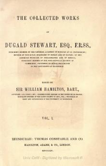 Collected Works of Dugald Stewart Volume 1.djvu